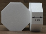 Octagon cake dummies with chamfered egdes of 7 cm high