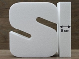 Letter cake dummies with straight edges of 5 cm high