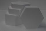 Hexagon cake dummy set with straight edges
