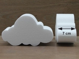 Cloud cake dummies with chamfered edges of 7 cm high