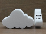 Cloud cake dummies with straight edges of 4 cm high