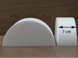 Half Round Cake dummies with chamfered edges of 7 cm high