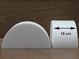 Half Round Cake dummies with chamfered edges of 10 cm high