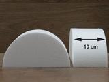 Half Round Cake dummies with straight edges of 10 cm high