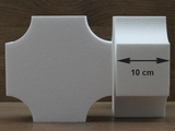 Square cake dummies with conversed corners of 10 cm high