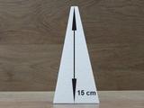 Piramide 8,5 x 8,5 cm - 15 cm hoog