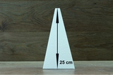 Pyramide 11 x 11 cm - 20 cm hoch