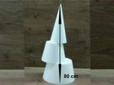 Kegel 80 cm hoch 3-Teilig