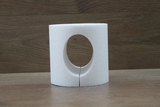 Cake dummy round with oval opening - Ø 15 cm/15 cm heigh