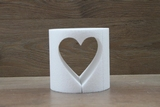 Cake dummy round with heart opening - Ø 15 cm/15 cm heigh