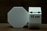 Hexagon cake dummies with straight edges of 15 cm high