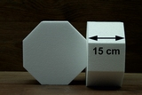 Hexagon cake dummies with straight edges of 15 cm high
