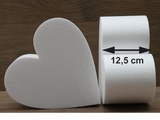 Heart cake dummies with straight edges of 12,5 cm high