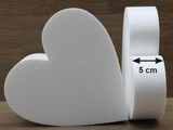 Heart Cake dummies with chamfered edges of 5 cm high