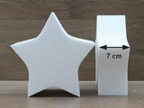 Star cake dummies with straight edges of 7 cm high