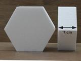 Hexagon cake dummies with straight edges of 7 cm high