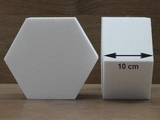 Hexagon cake dummies with straight edges of 10 cm high