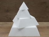 Pyramid cake dummies with straight edges of 10 cm high