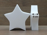 Star cake dummies with chamfered edges of 5 cm high