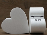 Heart Cake dummies with chamfered edges of 10 cm high