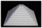 Schijf Vierkant 1 cm dik piepschuim