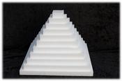 Schijf Vierkant 2 cm dik piepschuim