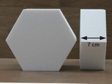 Hexagon cake dummies with chamfered edges of 7 cm high