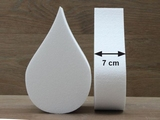 Teardrop cake dummies with chamfered edges 7 cm high