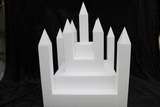 Castle cake dummy set 22 pcs - 40 x 40 cm, 42 cm high