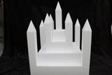 Schloß 22 teilige Tortendummy-set - 40 x 40 cm, 42 cm hoch