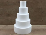 Set van ronde taartdummies van 10 cm hoog