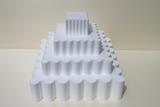 Vierkant gegolfd 4-delige set