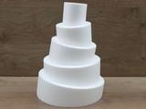 Round Wonky Style - Topsy Turvy cake dummies 6 - 10 cm high