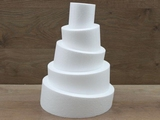 Wonky Cake - ronde taartdummies van 6 - 10 cm hoog