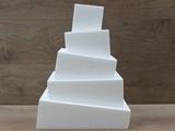 Wonky Cake vierkante taartdummies van 6 - 10 cm hoog