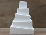 Quadratische Wonky Style Tortendummies von 6 - 10 cm hoch