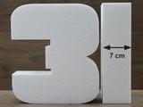 Nummer Tortendummies von 7 cm hoch