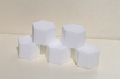 Mini hexagon cake dummies