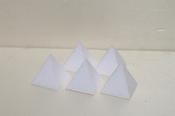 Mini pyramid cake dummies