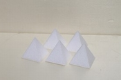 Mini pyramid cake dummies