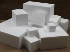 Vierkante taartdummies met rechte hoeken